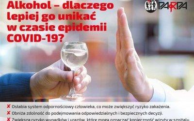 Alkohol i koronawirus. Ważne informacje dla mieszkańców